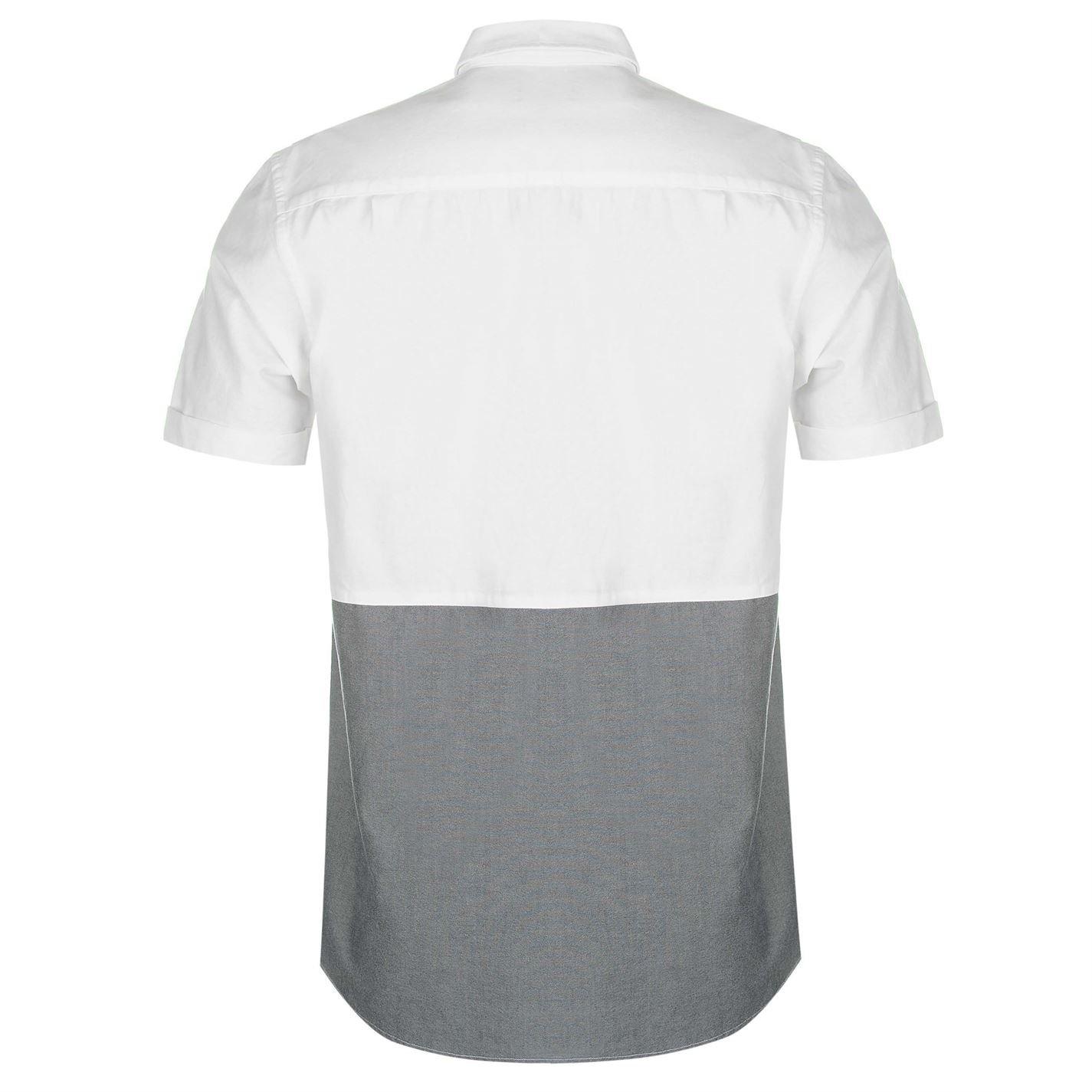 Pierre Cardin Mens Panel Short Sleeve Shirt