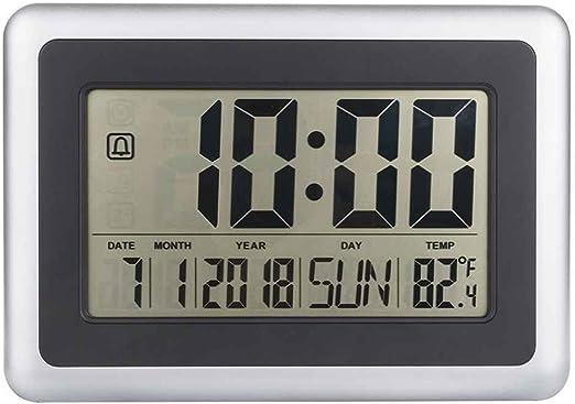Topker LCD Digital de Pared Grande del termómetro del Reloj del ...