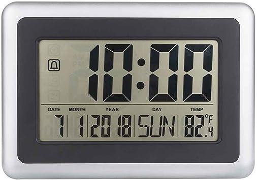 GOTTING LCD digital de pared grande del termómetro del reloj del calendario de escritorio Medidor de tiempo Alarma electrónica Interiores Temperatura: Amazon.es: Bricolaje y herramientas