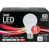 Feit Electric 60 Watt Replacement A19 LED Light Bulbs 6-Pack
