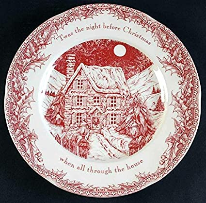 Christmas Plate Set.Johnson Brothers Noble Excellence Twas The Night Before