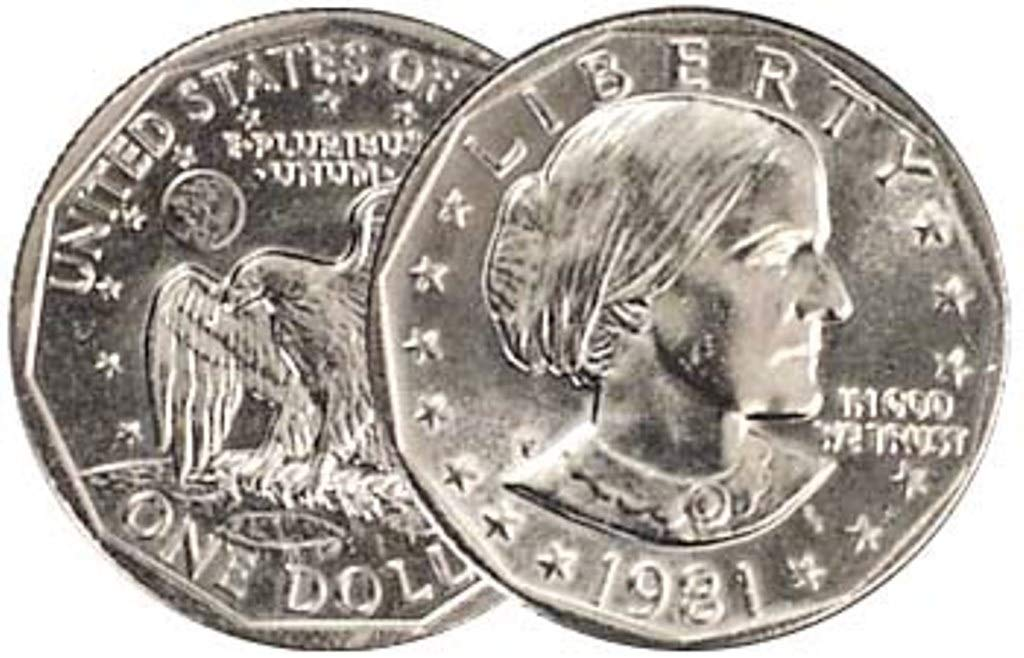 1981  P+D+S Susan B Anthony Mint Set ~ SBA BU Dollar ~ U.S Coins