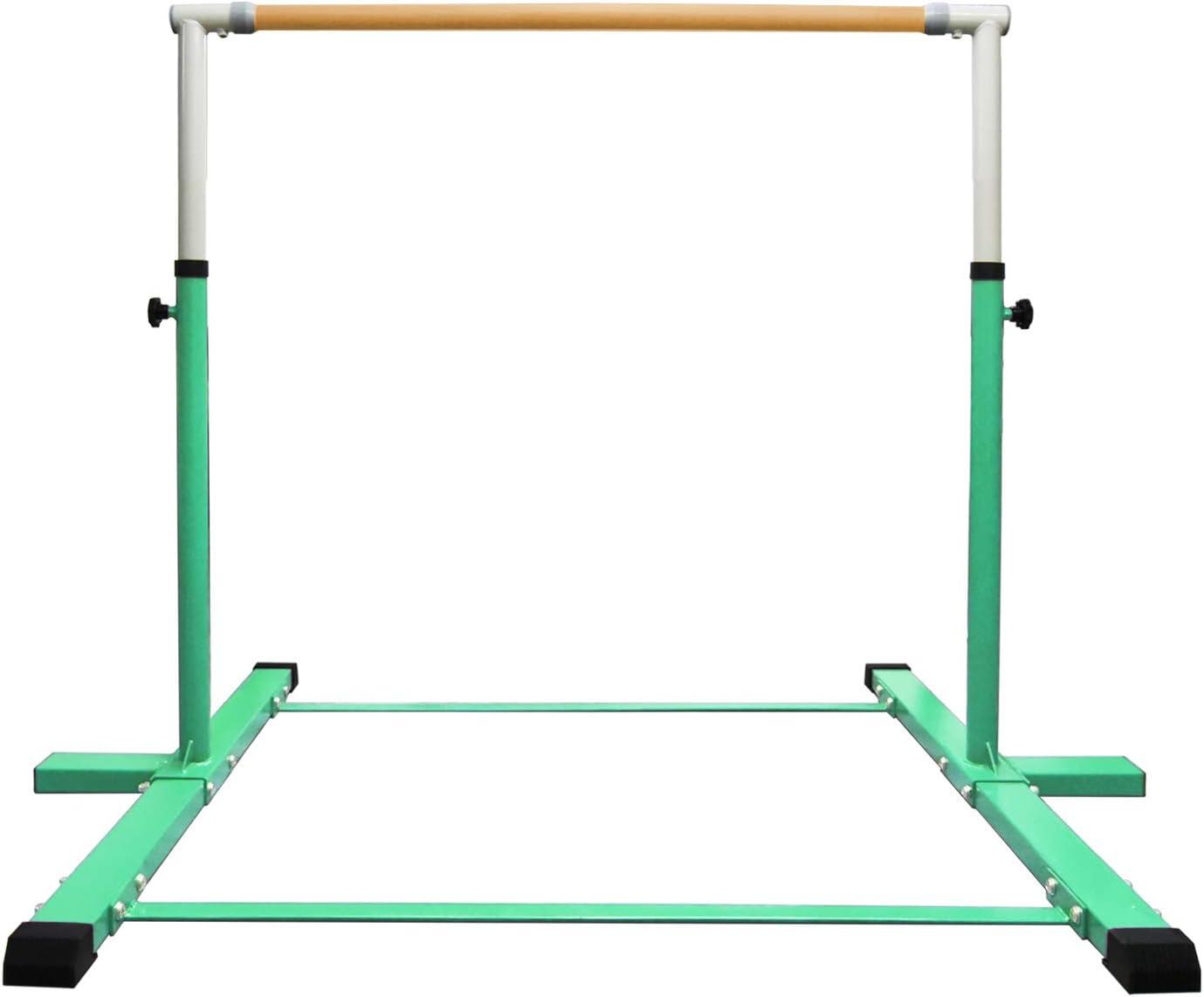 EZ GLAM Adjustable (3'-5') Horizontal Training Bar 1-4 Levels,260lbs Weight Capacity