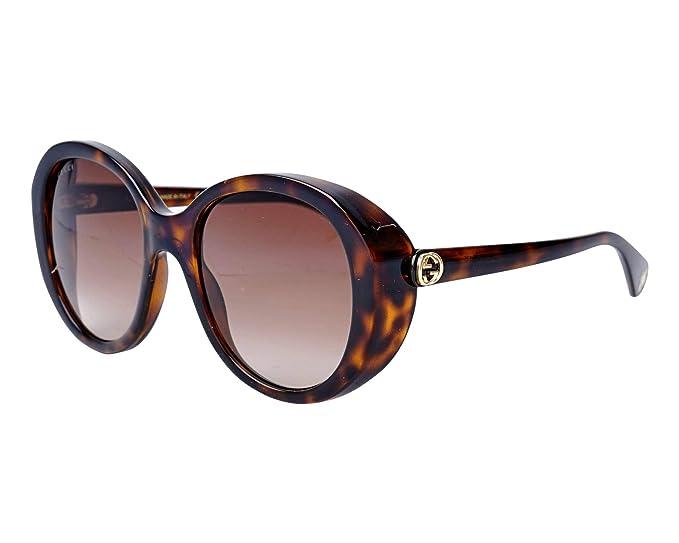 Gucci - Gafas de sol - para mujer Marrón Dunkel Havana 55 ...