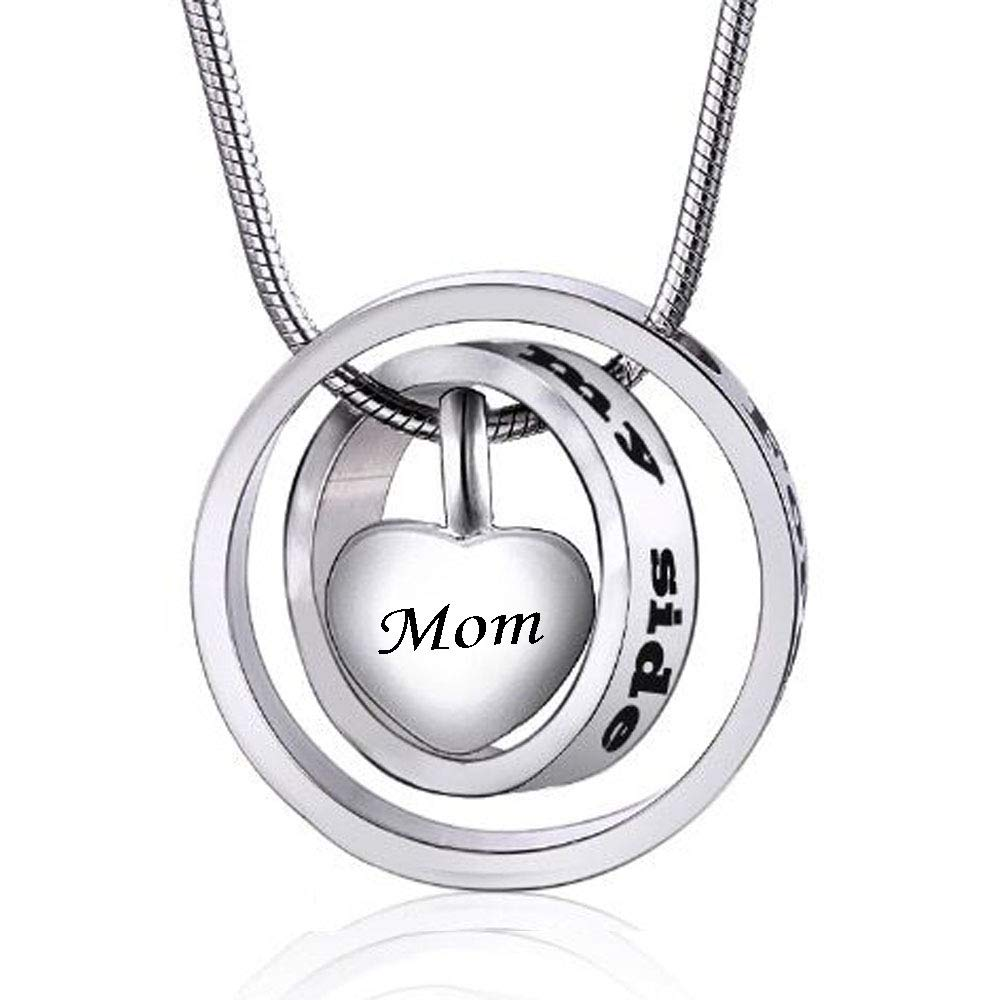 Mom cremation urn necklace forever in my heart carved locket urn cremation jewelry