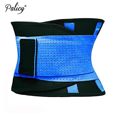 94a1991d41 Palicy Belly Slimming Belt Waist Cincher for Women Men Waist Trainer  Shapewear Tummy Shaper Corset Girdle Modeling Strap  USPS  Color Blue Size  M  ...