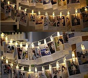Amazon.com : Neretva 40 LEDs Photo Clips String Lights, Christmas ...