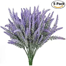 StillCool Artificial flowers Flocked Lavender Bouquet Real Touch Wedding Flower Plants for Party Room Home Hotel Event Christmas Gift Decoration (Lavender)