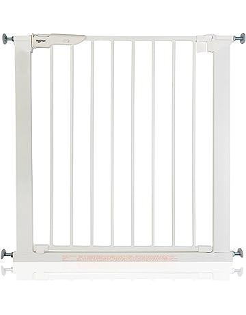BabyDan Premier - Bebé Puerta de la Escalera Barrera de Seguridad Blanco, Anchuras: 73
