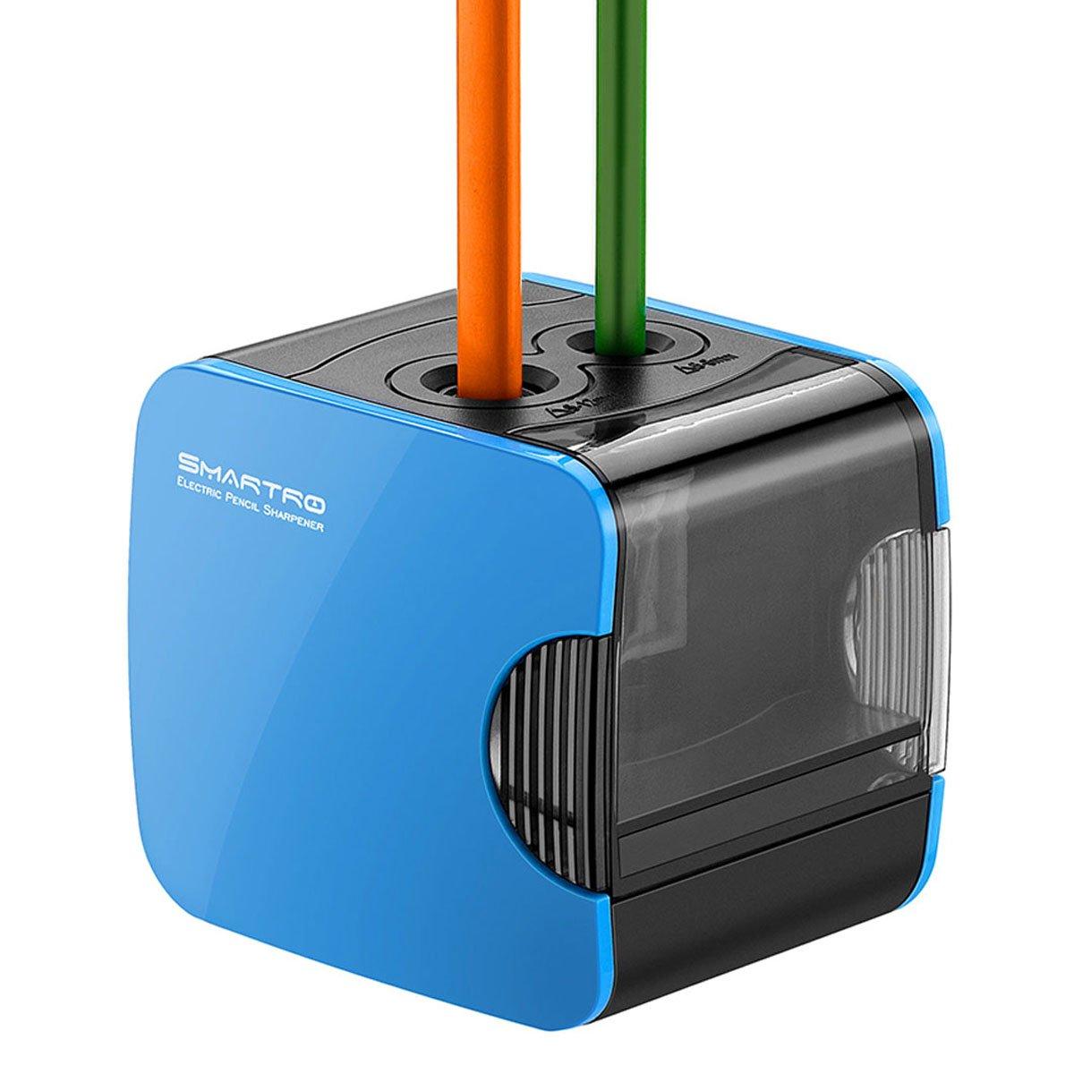 Sacapuntas Eléctrico SMARTRO Automático Funciona a Pilas y Alimentado por USB
