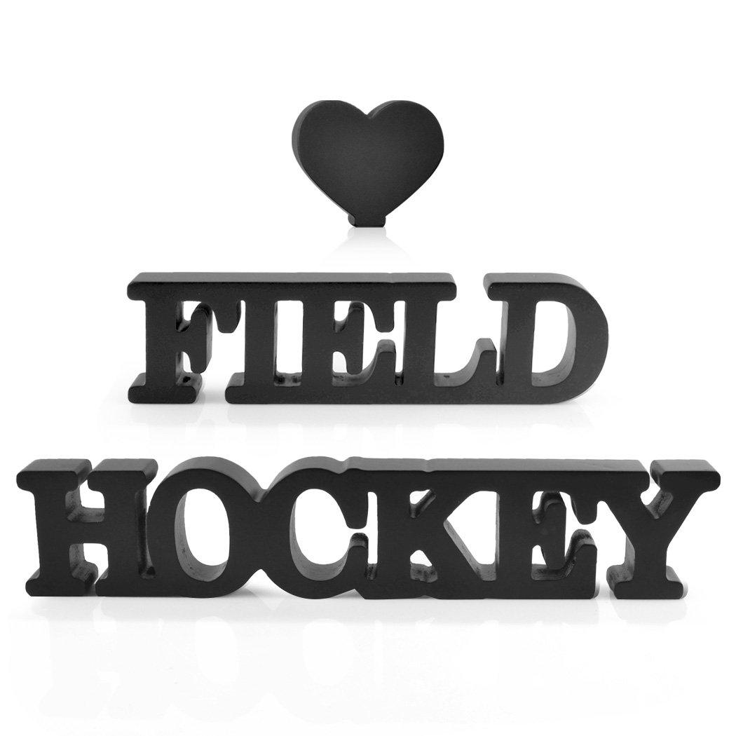 Love Field Hockey Wood Words | Wood Words by ChalkTalk SPORTS | Room, Shelf and Desk Décor