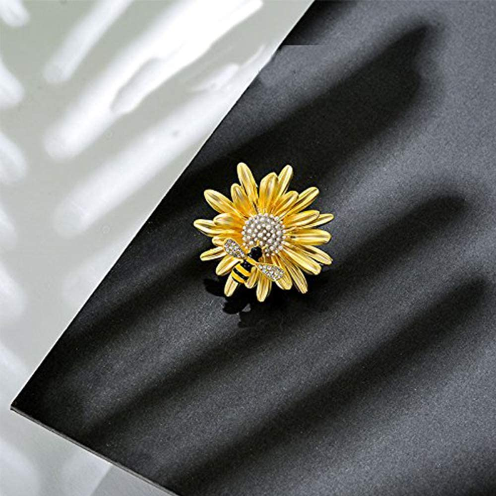 Ogquaton 1X Broche Abeille Marguerite Femmes Corsage Cadeau de no/ël de Mariage mari/ée Broche Robe Foulards ch/âle Clip Dame Bijoux Sac Ornement cr/éatif et utile