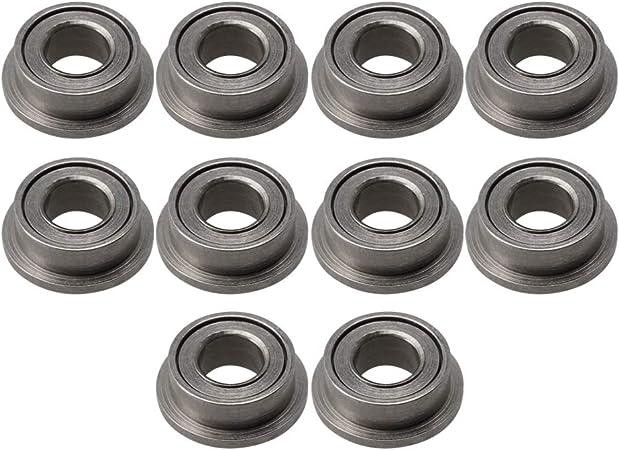 2 x F693zz Mini Metal Double Shielded  Flanged  Ball Bearings 3mm*8mm*3mm