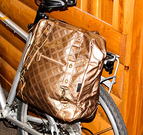 FASTRIDER SHOPPER QUILTS Bronze Bike Pannier/Bag 16.5L PVC Water - Quilt Shopper