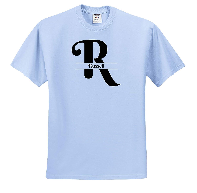 T-Shirts 3dRose BrooklynMeme Monograms Russell Bold Script Monogram R
