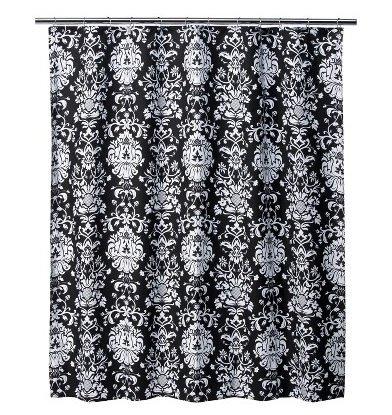 Amazon.com: Xhilaration® Damask Shower Curtain - Black/ White ...