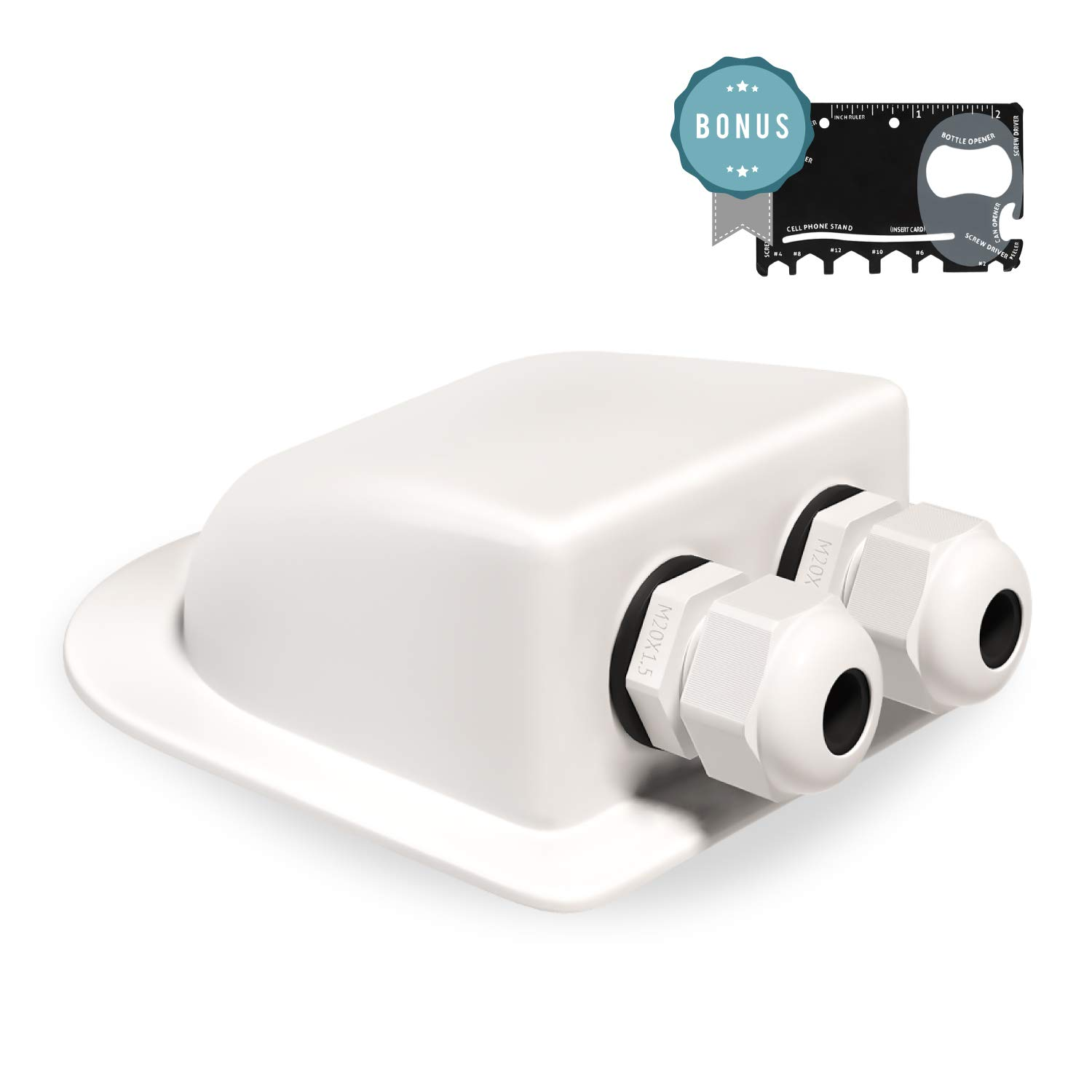Cable Entry Gland Waterproof - Cable Entry Plate, Fits Cables 3mm to 12mm for Solar Panels, Motorhomes, Caravans, Boats and RV's by Everland