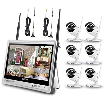 089821b31 Wireless Surveillance Camera System Forcovr 8 Channel 1080P Home Security  System CCTV Wifi NVR Kit with