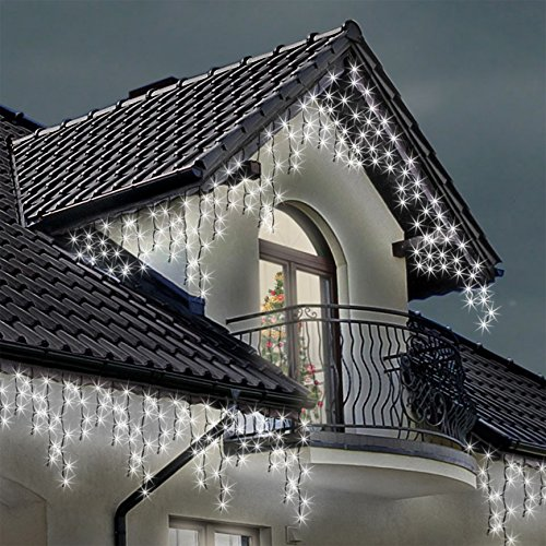Icicle Lights 480 Led Bright White Indoor Outdoor Christmas Lights
