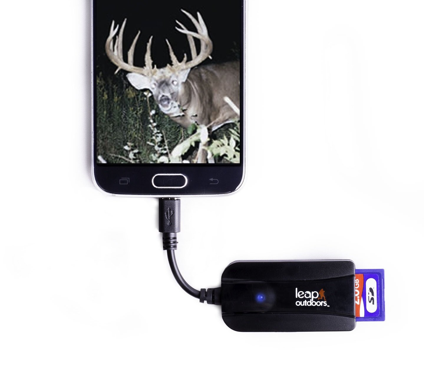 Leap Outdoors Trail Camera Viewer for Android Phones, View Photos and Videos, SD and Micro SD Memory Card Reader works with any trail camera. A deer hunter wildlife scouting must have!