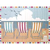 United Weavers of America Regional Concepts Seaside Chairs Rug, 1 10 by 3, Tropical