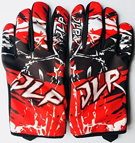 JLP Racing - Traje de motocross para niño de 7 – 8 años, para quad, bici de montaña, BMX, MTB, pantalón, guantes y camiseta, color rojo, talla 24 US/L