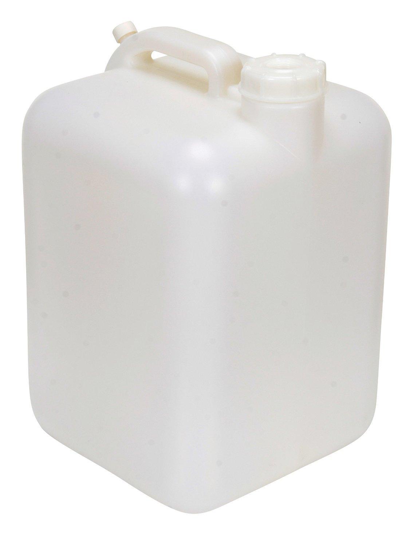 Vestil CARB-5 High Density Polyethylene (HDPE) Rectangular Carboy with Handle, 5 Gallon Capacity, Natural