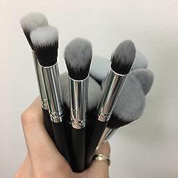 Amazon Com Tancy Koki Makeup Brushes Set 10 Pcs Blending Blush Premium Soft Synthetic Kabuki Foundation Eyeliner Eyeshadow Cosmetic Brushes With1 Free Makeup Brush Egg Brush Cleanner Beauty