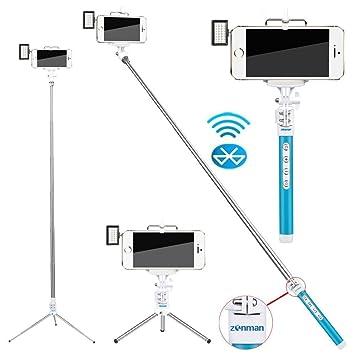 Selfie Zonman® para iPhone 6 + luz Led portátil proyector ...