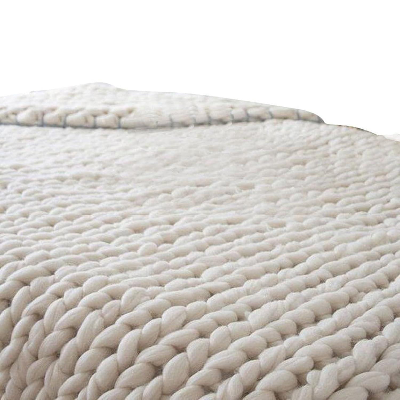 Decke stricken Wolle Garn Stricken Decke Handgemachte Klobige ...