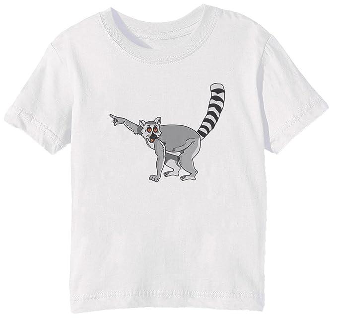 15de7866 Amazon.com: Erido Funny Lemur Kids Unisex Boys Girls T-Shirt White ...