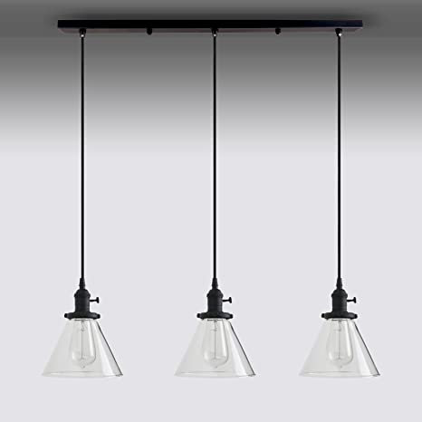 Permo Vintage Rustic Industrial 3 Lights Kitchen Island Chandelier Triple 3  Heads Pendant Hanging Ceiling