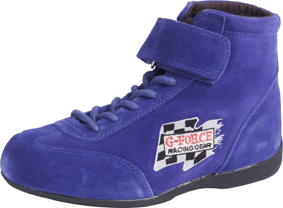 G-Force 0235120BU RaceGrip Blue Size-120 Mid-Top Racing Shoes