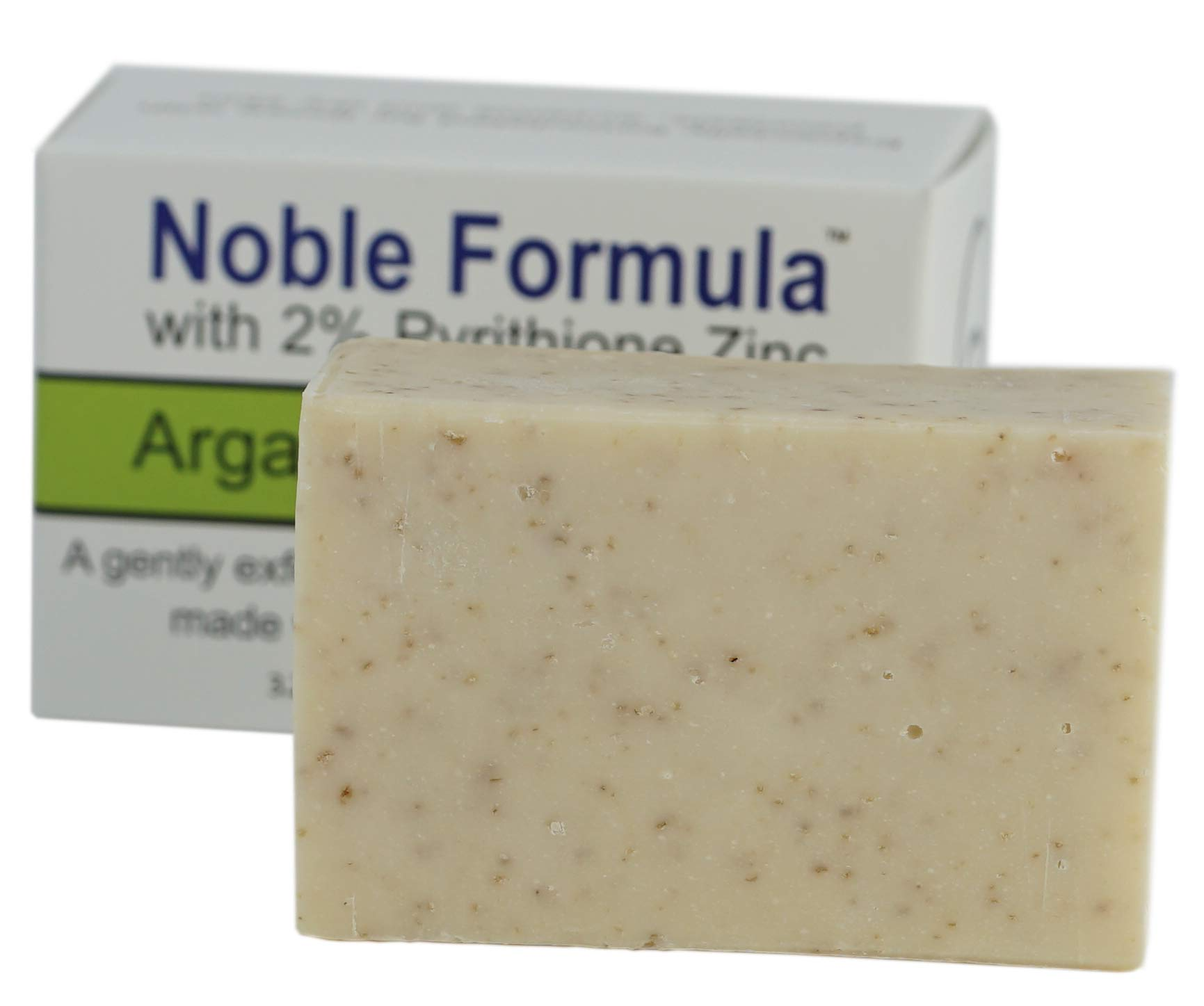 Noble Formula 2% Pyrithione Zinc (ZnP) Argan Oil Bar Soap, 3.25 oz by Noble Formula