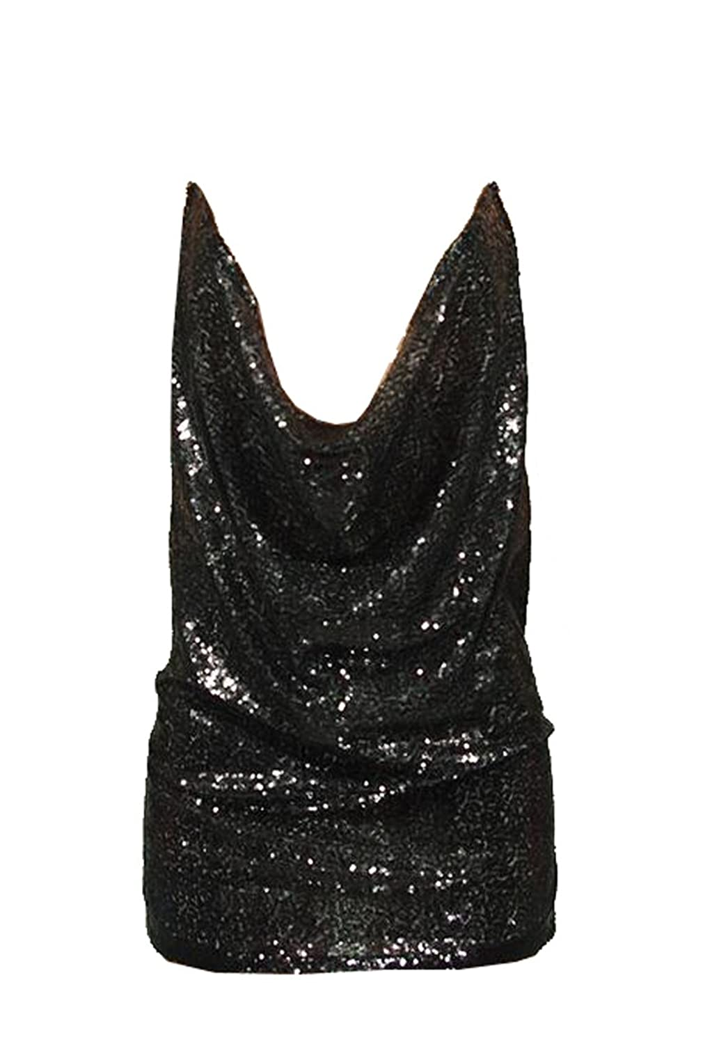 Unko Womens Sequins Bandage Cocktail Mini Party Clubwear Dress