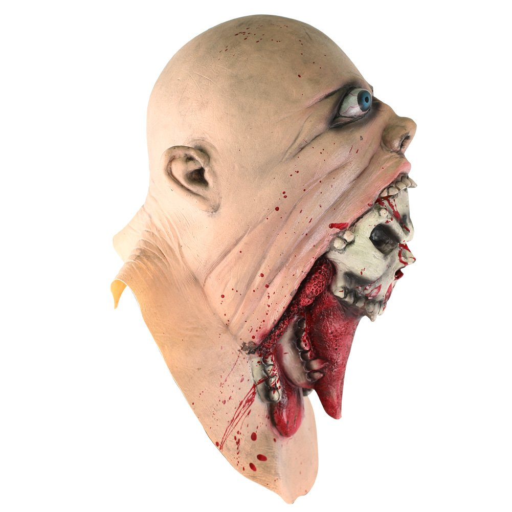 INKERSCOOP Scary Zombie Skull Face Mask Halloween Costume Party Cosplay Melting Ghost Mask (Zombie Skull Face Mask)