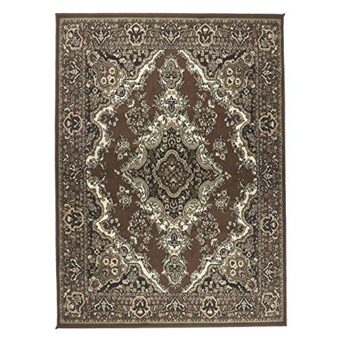 (Stevens Oriental Classic Rectangle Brown/Beige Indoor Area Rug )