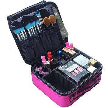 Amazon.com: Estuche de maquillaje para mujer con separadores ...