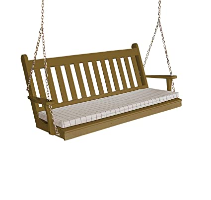 Amazon Com Wood Porch Swing Amish Outdoor Hanging Porch Swings