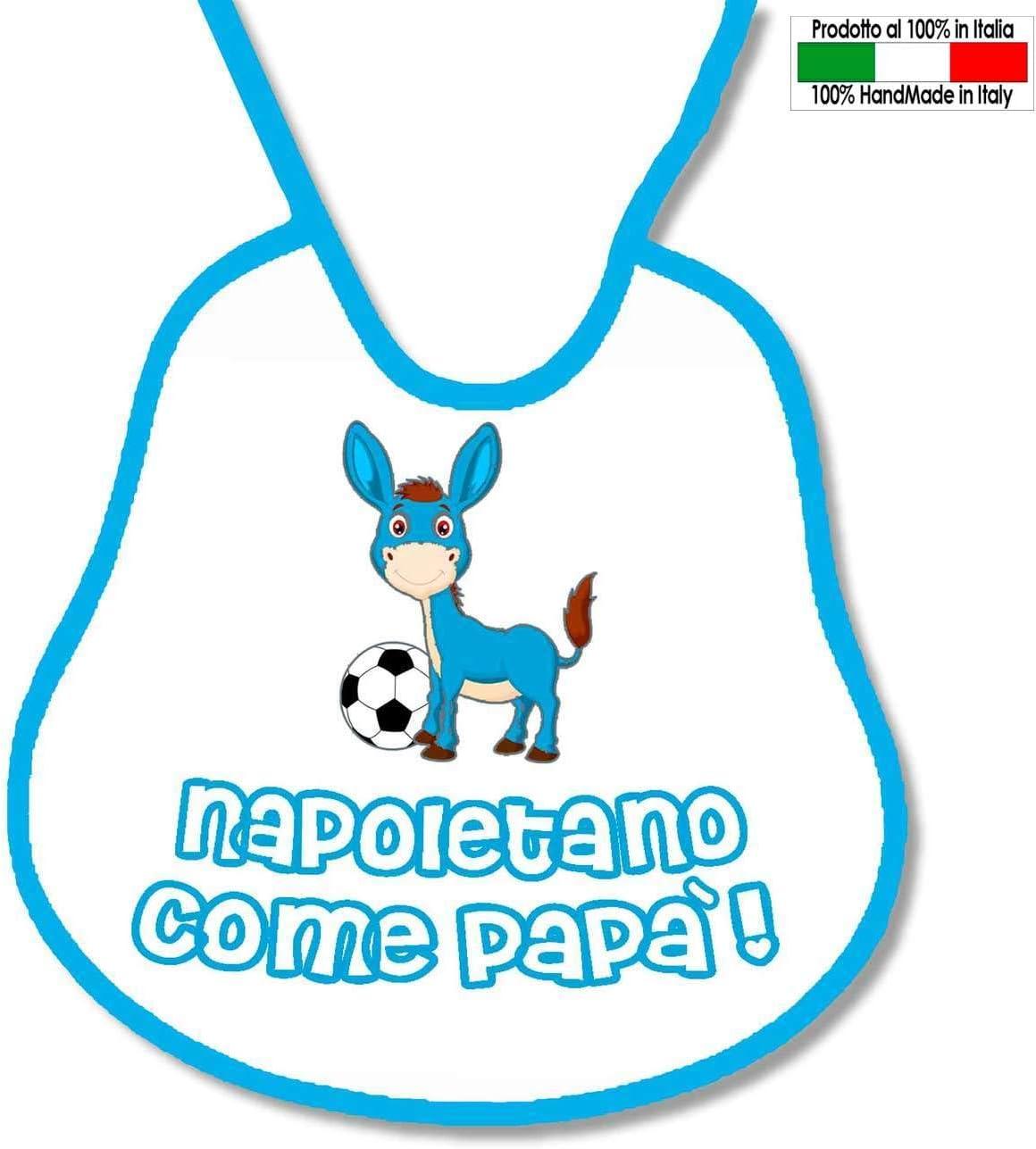Babero personalizable de futbolín, diseño de Nápoles: Amazon.es: Bebé