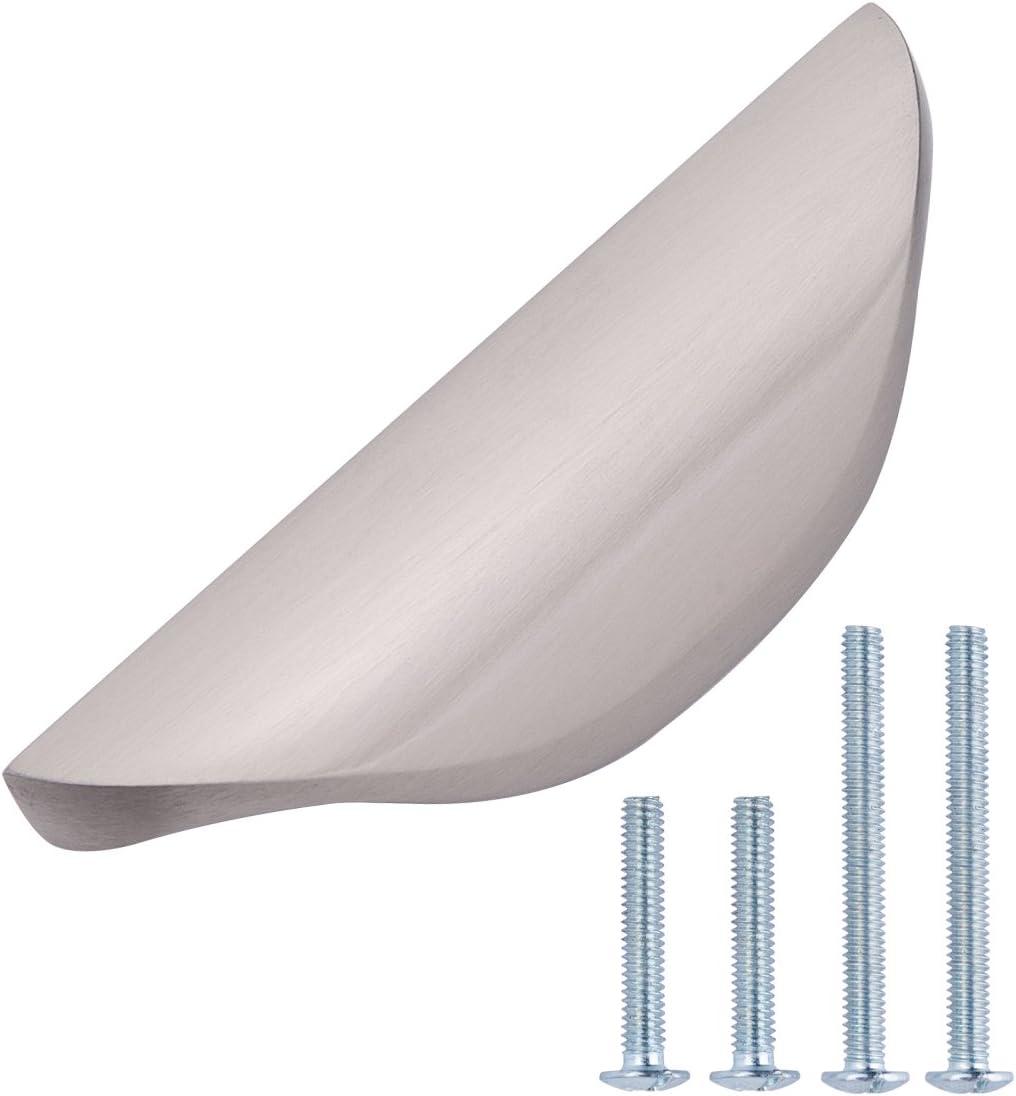 Amazonbasics Modern Finger Drawer Pull 3 07 Inch Length 1 26