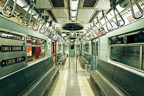 (NYC Subway by Katherine Gendreau Art Print, 15 x 10 inches)