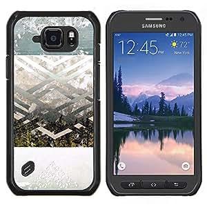 TECHCASE---Cubierta de la caja de protección para la piel dura ** Samsung Galaxy S6 Active G890A ** --Geométrico Paisaje Arte Espiritual