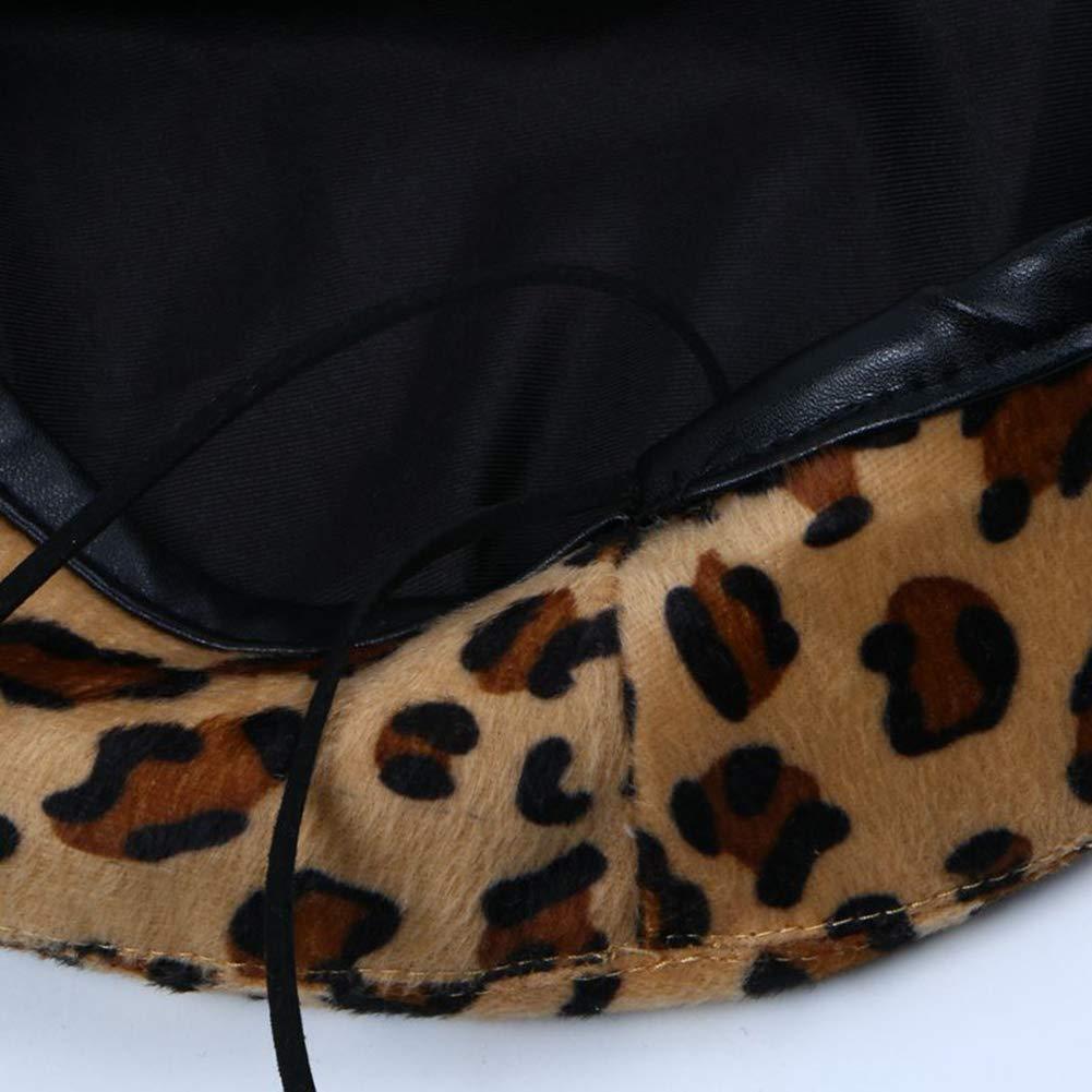 ShiningLove Chic Leopard Women Beret Cap Retro Soft Octagonal Cap Autumn Winter Fashion Hat