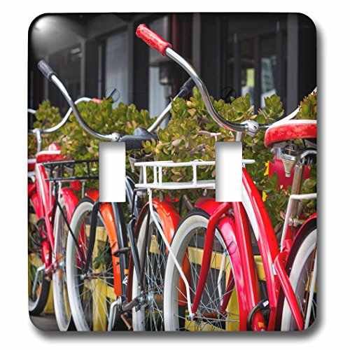 Danita Delimont - Bicycles - Australia, Victoria, Melbourne, South Wharf, bicycles outside. - Light Switch Covers - double toggle switch - Wharf Outlet South