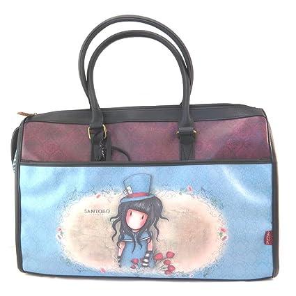 Bolsa de viaje gorjuss santoro azul violeta - 47.5x33.5x22 ...