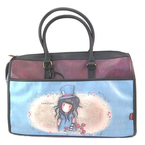 Bolsa de viaje gorjuss santoro azul violeta - 47.5x33.5x22.5 cm