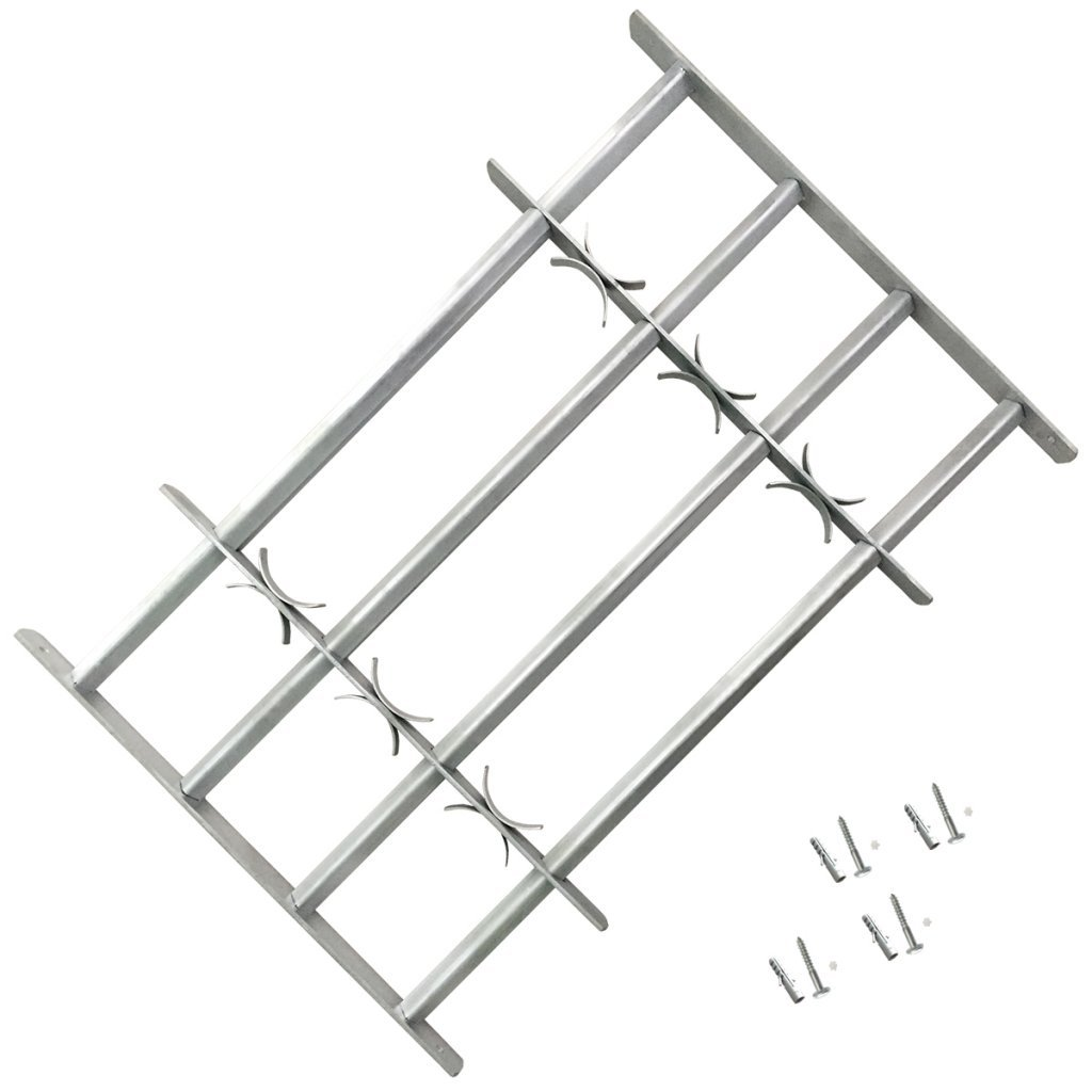 Festnight Einstellbares Fenstergitter Stahlgitter Fenster Gitter Sicherheitsgitter mit 3 Querbalken f/ür Fenster von 1000-1500mm Breite