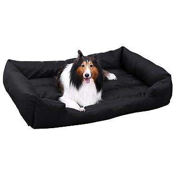 SONGMICS XXL Cama ortopédica para Perros Cómoda Cuna para Mascotas Rectangular Tamaño Grande 120 x 85