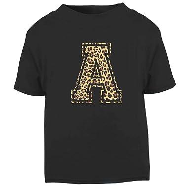 6999126922e5 Custom Leopard Letter T Shirt Top Mens Womens Kids Initial Name ...